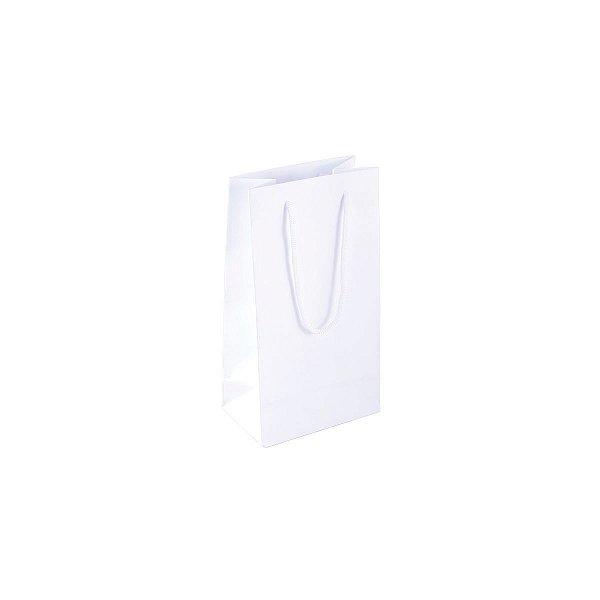 Sacola de papel 11X20X7cm - branca