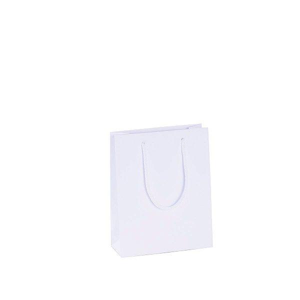 Sacola de papel 15X19X6cm - branca