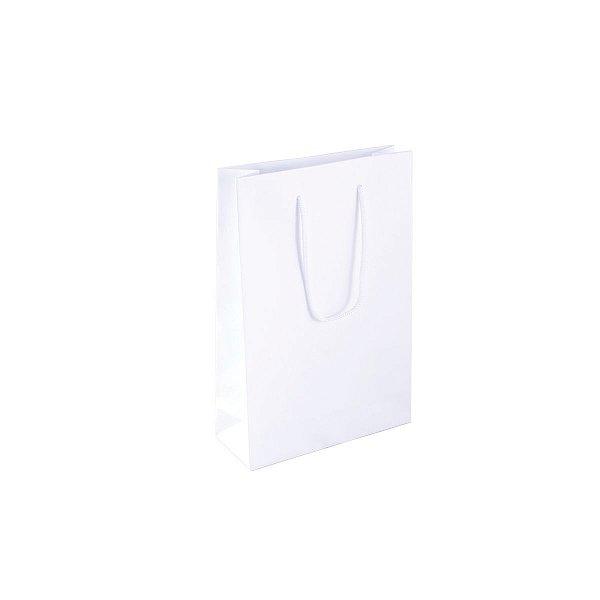 Sacola de papel 16X23X6cm - branca