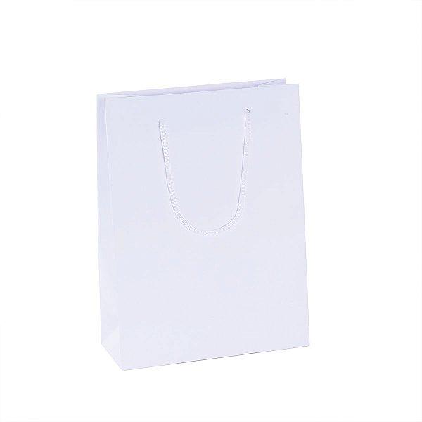 Sacola de papel 22,2X29,5X9cm - branca