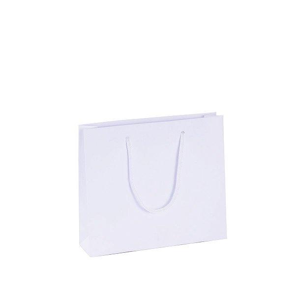 Sacola de papel 22,8X20X6cm - branca