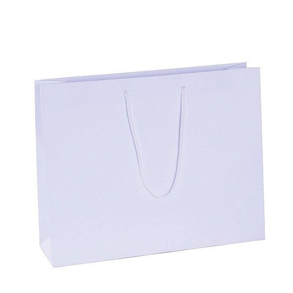 Sacola de papel 28X35X10cm - branca