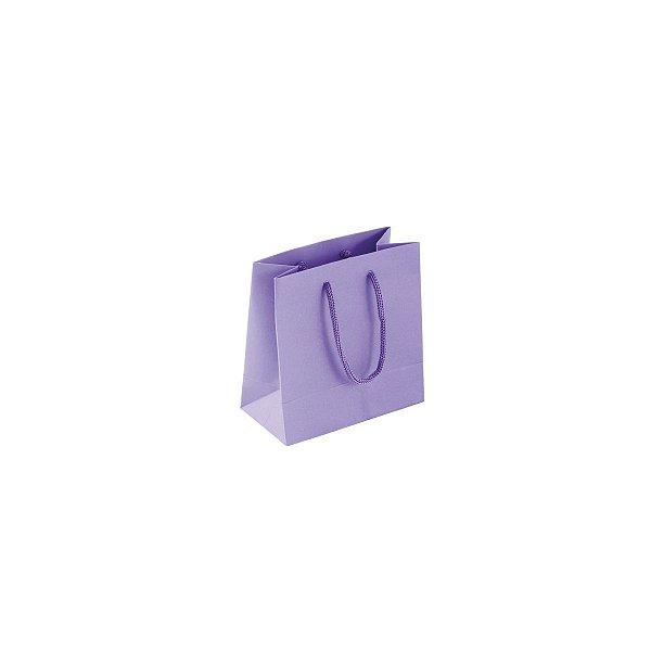 Sacola de papel colorida 10X10X5cm - lilás