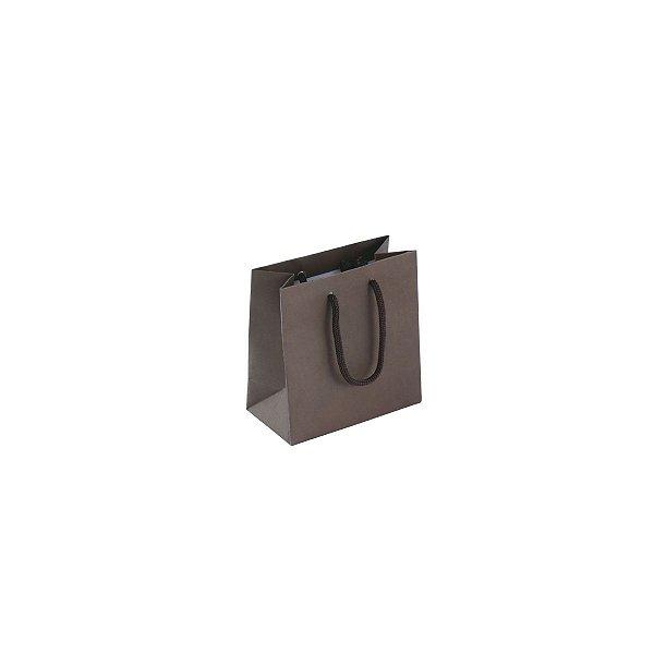 Sacola de papel colorida 10X10X5cm - marrom