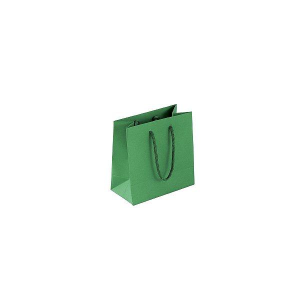 Sacola de papel colorida 10X10X5cm - verde