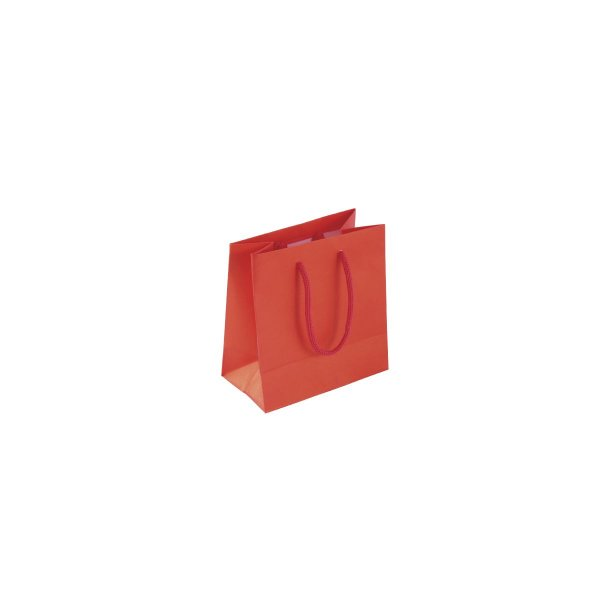 Sacola de papel colorida 10X10X5cm - vermelha