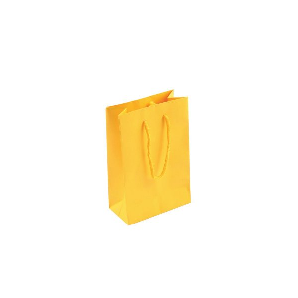 Sacola de papel colorida 10X15X5cm - amarela