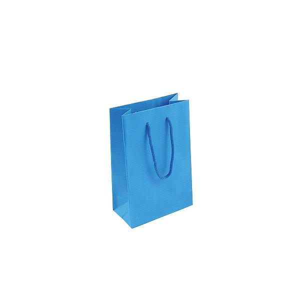 Sacola de papel colorida 10X15X5cm - azul