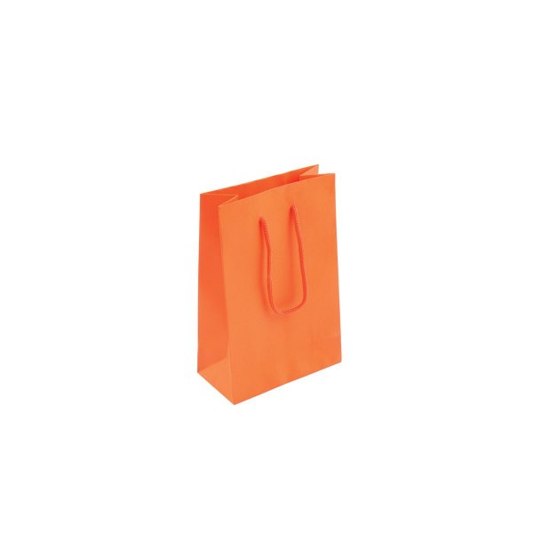Sacola de papel colorida 10X15X5cm - laranja