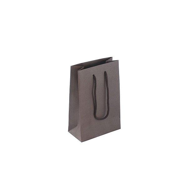 Sacola de papel colorida 10X15X5cm - marrom
