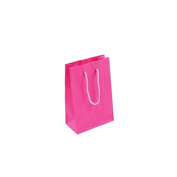 Sacola de papel colorida 10X15X5cm - pink