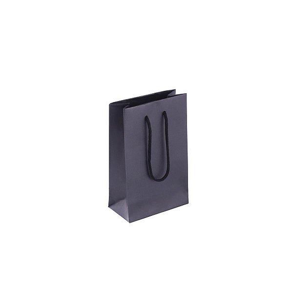 Sacola de papel colorida 10X15X5cm - preta