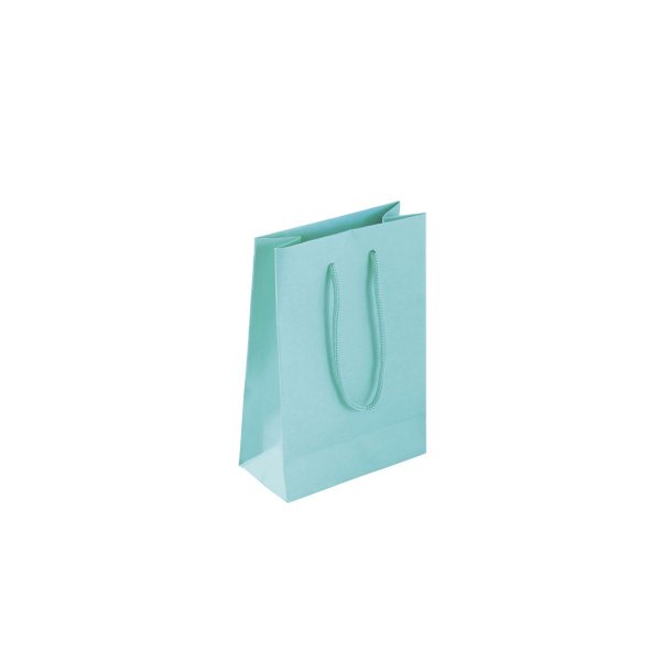 Sacola de papel colorida 10X15X5cm - tiffany