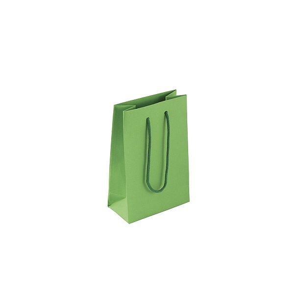 Sacola de papel colorida 10X15X5cm - verde claro