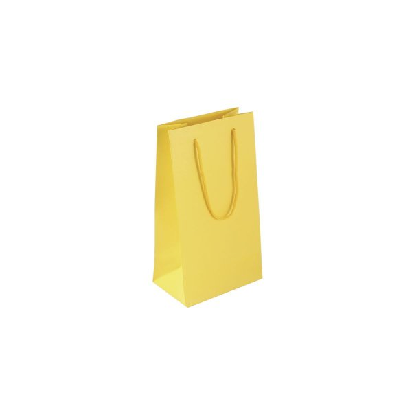 Sacola de papel colorida 11X20X7cm - amarela