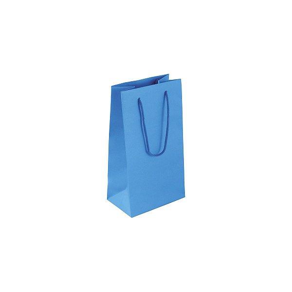 Sacola de papel colorida 11X20X7cm - azul