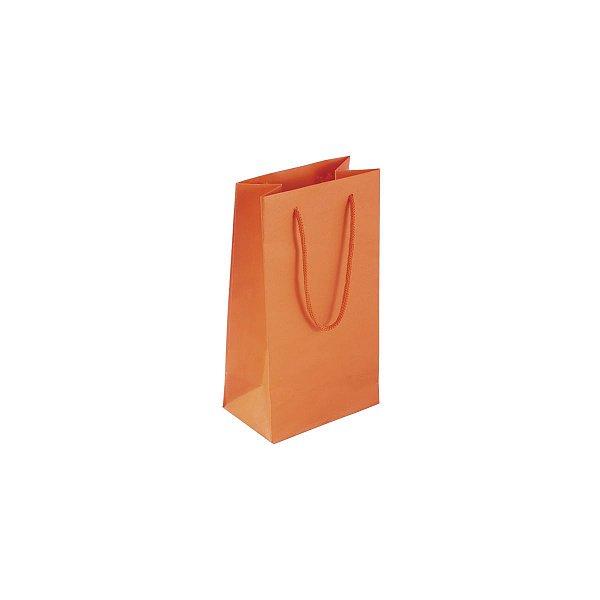 Sacola de papel colorida 11X20X7cm - laranja