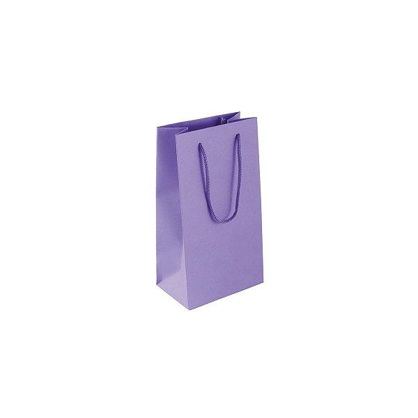 Sacola de papel colorida 11X20X7cm - lilás