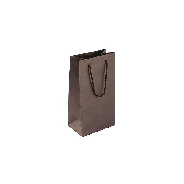 Sacola de papel colorida 11X20X7cm - marrom