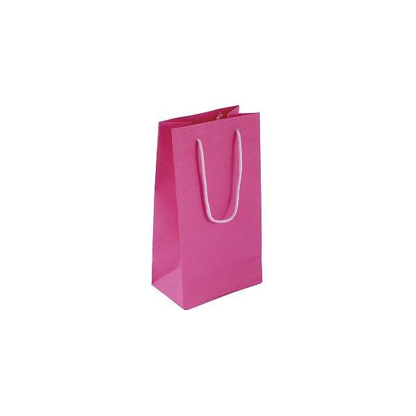 Sacola de papel colorida 11X20X7cm - pink