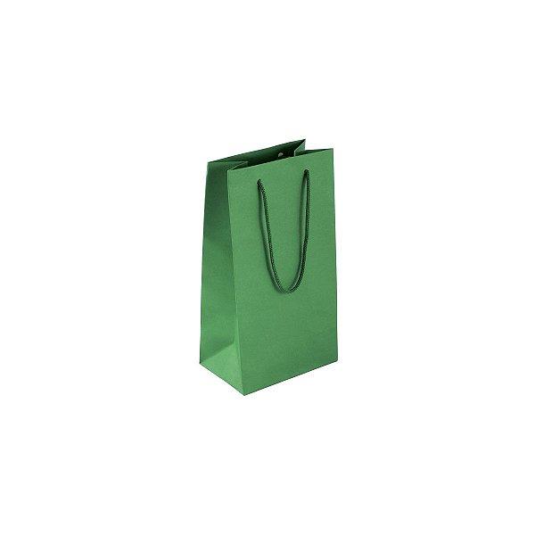 Sacola de papel colorida 11X20X7cm - verde