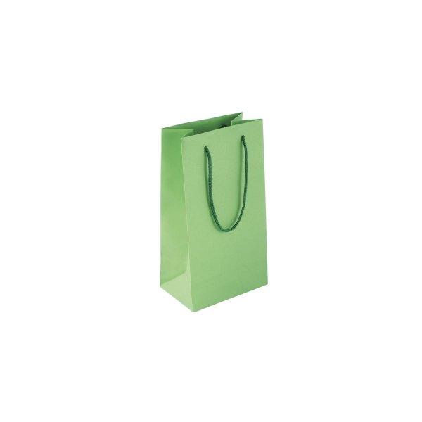 Sacola de papel colorida 11X20X7cm - verde claro