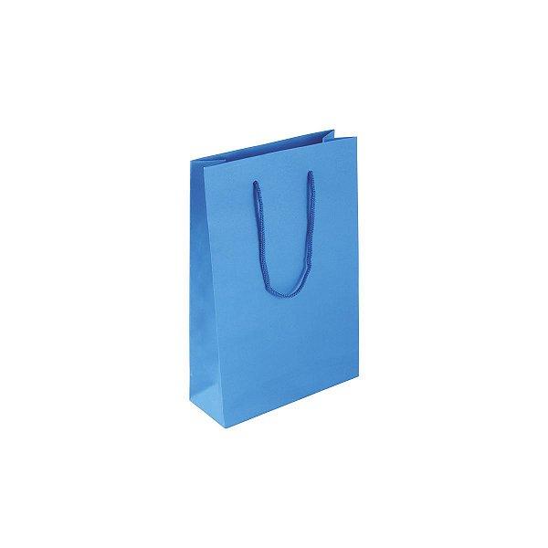 Sacola de papel colorida 16X23X6cm - azul