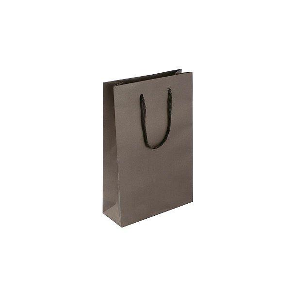Sacola de papel colorida 16X23X6cm - marrom