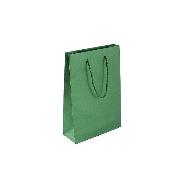 Sacola de papel colorida 16X23X6cm - verde