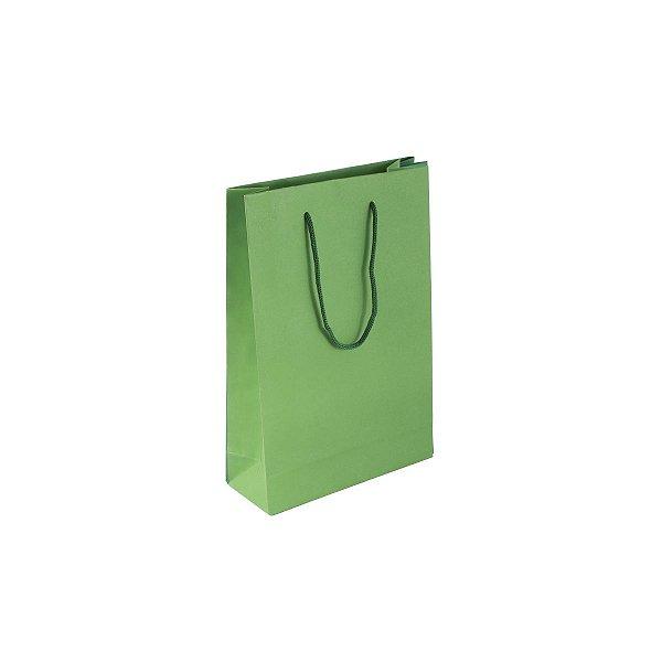 Sacola de papel colorida 16X23X6cm - verde claro