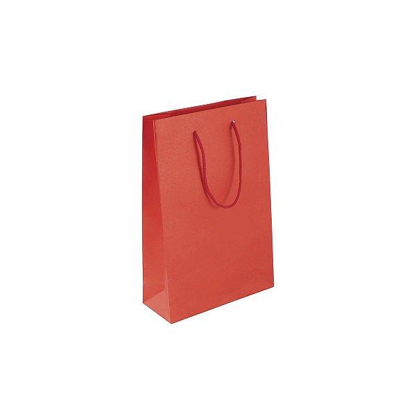 Sacola de papel colorida 16X23X6cm - vermelho