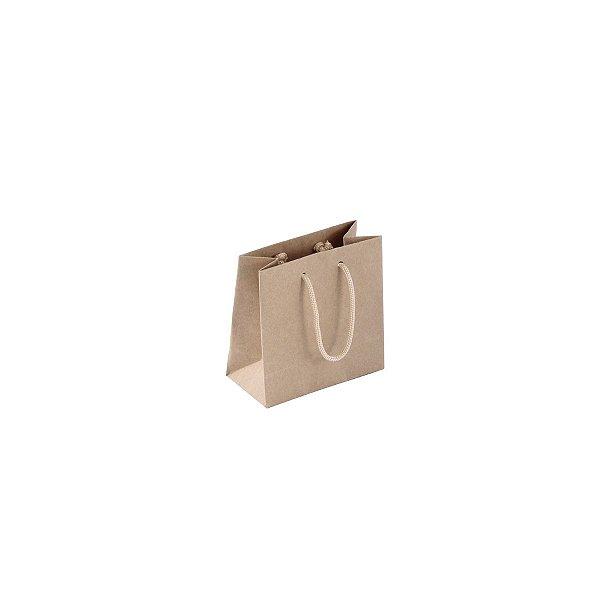 Sacola de papel kraft 10X10X5cm