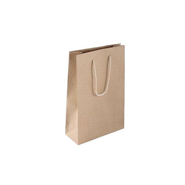 Sacola de papel kraft 16X23X6cm