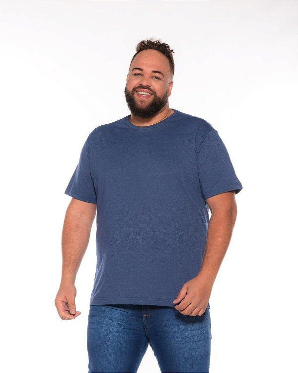 Camiseta Masculina Básica Azul Plus Size XP Ao G5 503