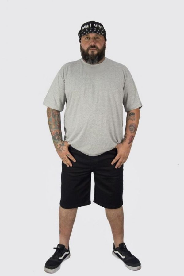Bermuda Jeans Black Masculina Plus Size
