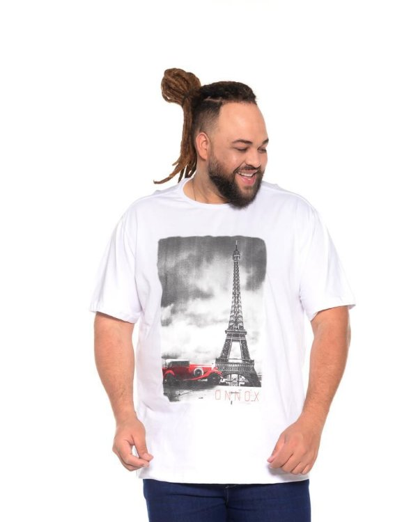 Camiseta Masculina Estampada Torre Branca Plus Size XP ao G5