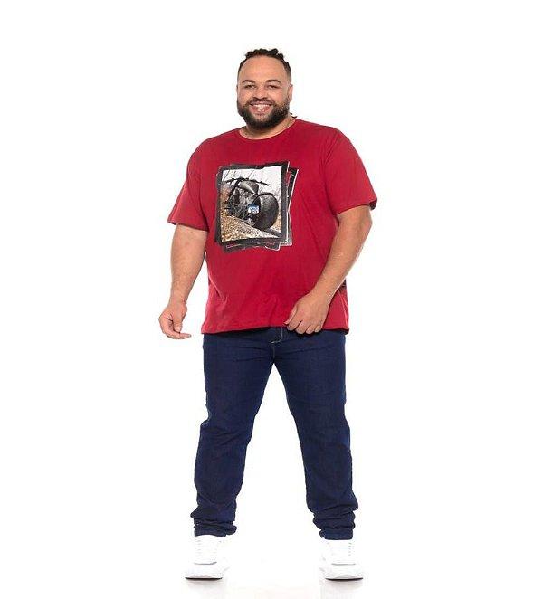 Camiseta Masculina Estampada Onnox Moto Vermelha Plus Size XP ao G5