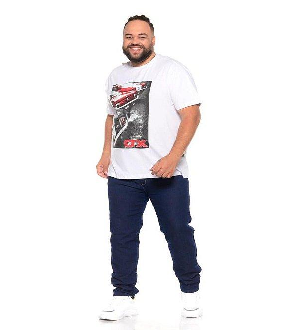 Camiseta Masculina Estampada Onnox Opala Branca Plus Size XP ao G5