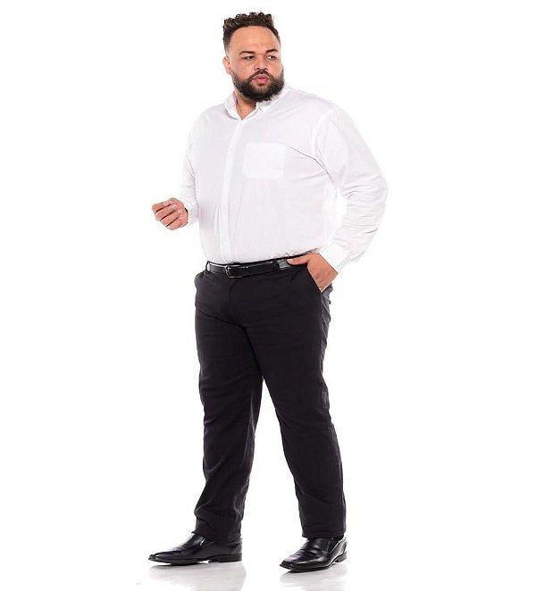 Calça Masculina Social Esporte Fino Preta Plus Size 50 ao 78 2080
