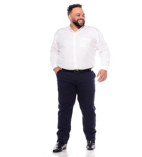 Calça Masculina Social Esporte Fino Marinho Plus Size 50 ao 78 2080
