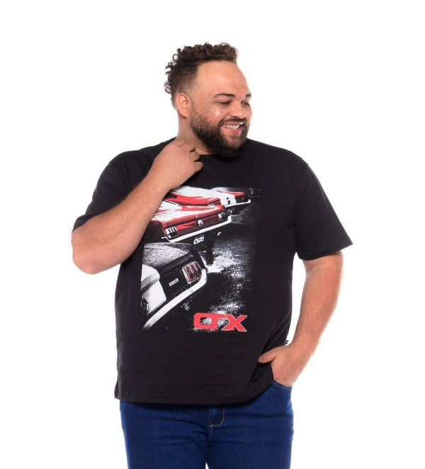 Camiseta Masculina Estampada Onnox Opala Preta Plus Size XP ao G5