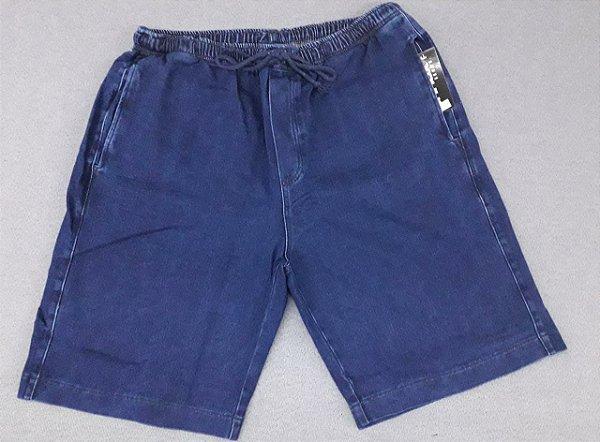 Bermuda Masculina Moletom Jeans Stretch com Elástico e Bolso 2066