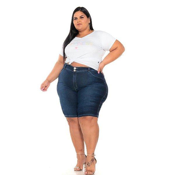 Bermuda Ciclista jeans Stretch Amarrado Feminina 44 ao 70 3250