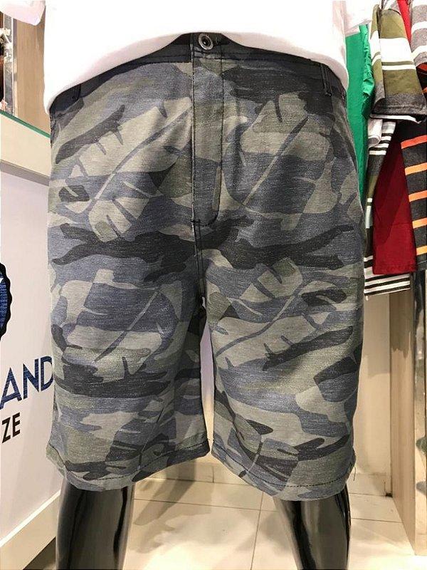 Bermuda de Sarja Masculina Estampada 04 Plus Size 50 ao 78 2023