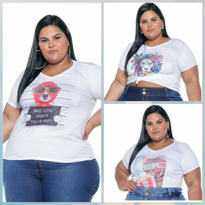 T-shirt  Feminina Estampada Pequenos Defeitos