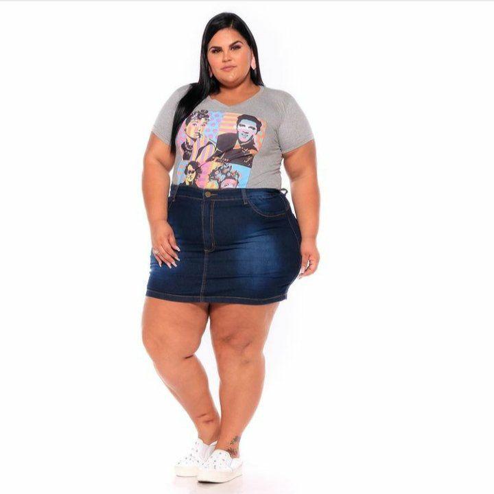 Mini Saia Jeans Com Stretch  62 ao 70 3215