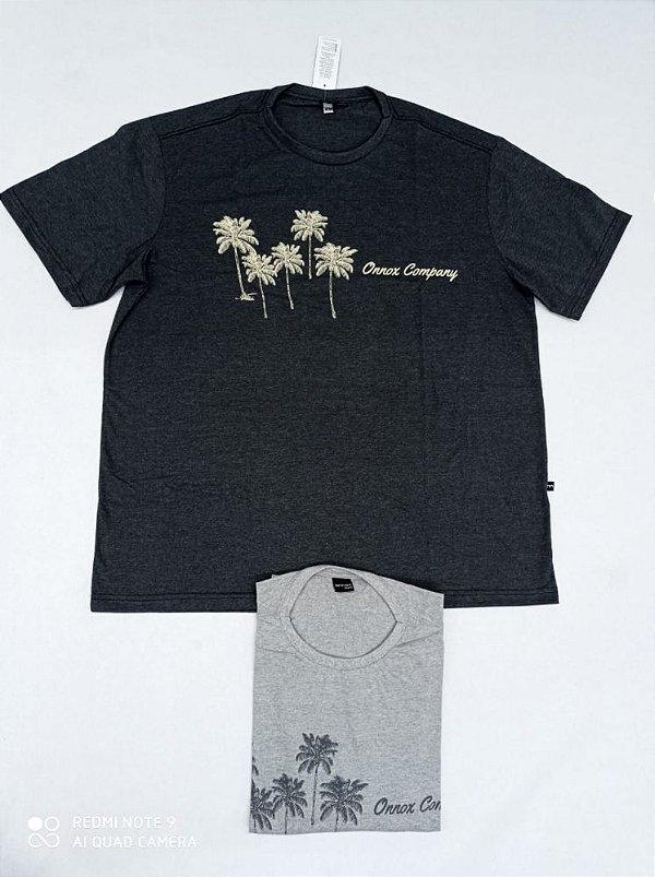 Camiseta Masculina Estampada Company Plus Size Cinza Xp Ao G5