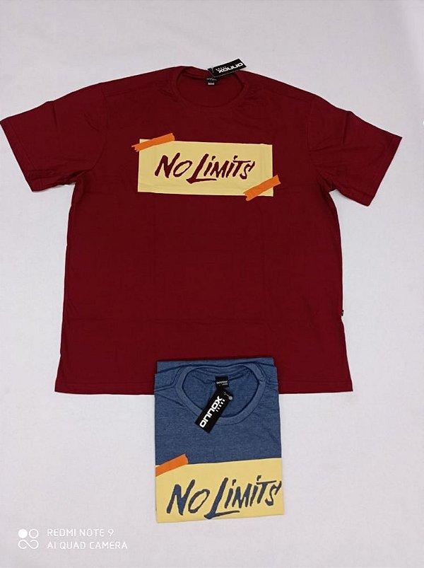 Camiseta Masculina Estampada No Limit`s Plus Size Vinho Xp Ao G5