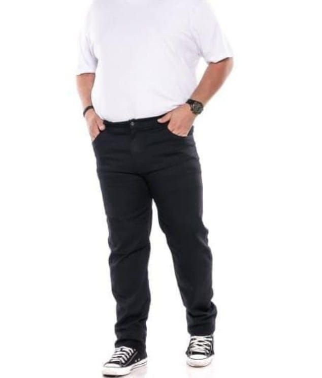 Calça Jeans Masculina Preta Plus Size 50 ao 64 1456
