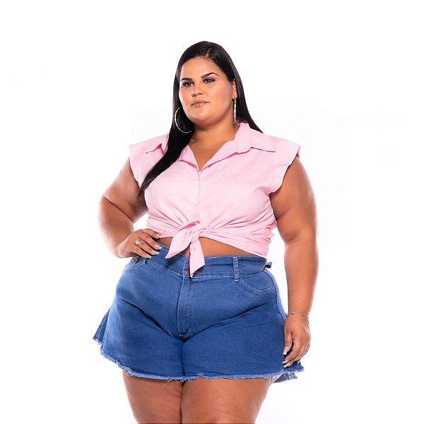 Short Godê Jeans Stretch  Pequenos Defeitos